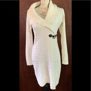 Calvin Klein collared sweater dress